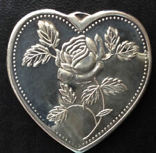 Especially For You Heart Shaped Silver Medal A3612
