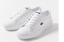 Lacoste Women's Gripshot 0120 3 CFA Leather Sneakers - size 8.5 - NWT - $95