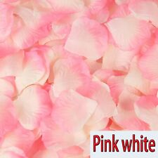Pink white Silk Flower Rose Petals Wedding Party Table Decoration Venue Decor