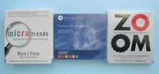 Lot of 3 New Business Audiobooks The Power of Full Engagement, Microtrends, Zoom