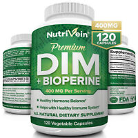 Nutrivein DIM Supplement 400mg - Menopause, PCOS, Estrogen Metabolism & Balance