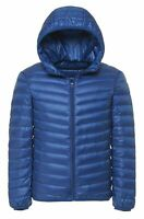 Men's Hooded Lightweight Down Jacket Packable Puffer Coat Outwear Warm Winter