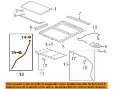 GM OEM Sunroof-Front Hose Right 20943457