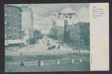 USA 1907 PENNSYLVANIA AVENUE FROM US TREASURY IN WASHINGTON DC POSTCARD