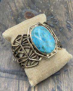 Barse Windemere Cuff Bracelet- Turquoise & Bronze- NWT