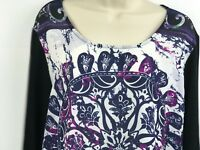 Christopher & Banks Multi-Colored Mid-Sleeve Top in Sizes Large &  X-Large A1810