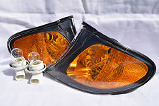 Front Corner Turn Signal Park Light Lamps Black Trim A Pair Fit 2002 325i 325xi