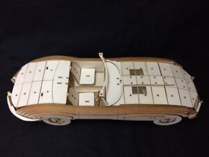 Laser Cut Wooden E Type Jaguar 3D Model/Puzzle Kit