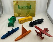 1935 Playskool Transportation Set Complete in Pretty Good Condition FREE SHIP