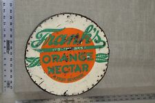 SCARCE 1930's FRANK'S ORANGE SODA  EMBOSSED BOTTLE CAP  METAL SIGN