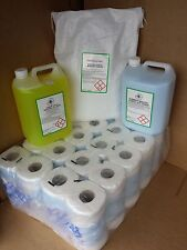 10kg Non Bio Washing Powder + 5lt fabcon + 5lt lemon wash up + 40 toilet rolls