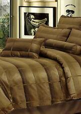 New RETRO Bronze Taupe Jacquard & Polyester QUEEN Quilt Doona Duvet Cover Set