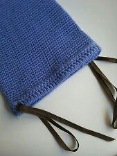 Anthropologie Blue hand crocheted Custodia per iPad 25 x 17 cm