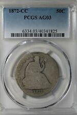 1872 CC  50C PCGS AG 03     Liberty Seated Half Dollar