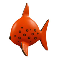 Alte Fisch Keramik Skulptur Höhe 28 cm Vintage 60er 70er Jahre evtl. Ruscha