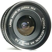 Konica Hexanon AR 28mm F3.5 Lens in Konica AR Mount with Case UK Fast Post