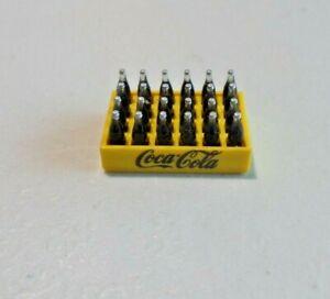 "Coca-Cola Tiny Plastic Bottle Tray Yellow 24 Tiny Bottles 1/2"" by 3/4"" 63"