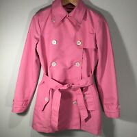 Lauren Ralph Lauren Size XS Pink Water Resistant Trench Raincoat Double Breast