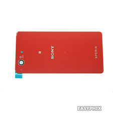 Battery Door Back Cover Rear Housing Glass For Sony Xperia Z3 Compact Red