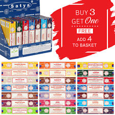 ❤️ Satya Genuine Nag Champa Incense Joss Sticks * BUY 3 GET 1 FREE * Insence 15g