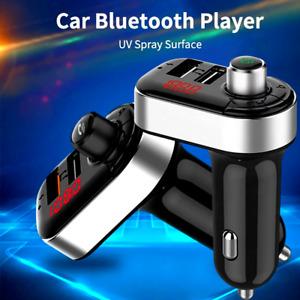 Cargador de Carro Bluetooth FM Transmisor Inalámbrico Adaptador radio USB MP3