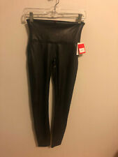 Spanx Faux Leather Black Leggings Size Medium New With Tags