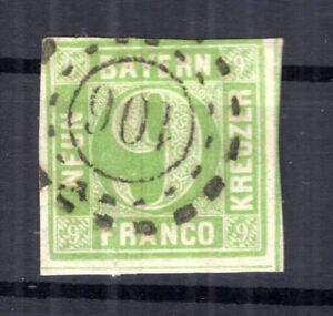 Bavaria Number Stamp Omr 106 Eichstedt On 5 Impeccable Postmarked (B3101