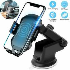 Fast Automatic Clamping Wireless Charging Charger Car Mount For iPhone Samsung