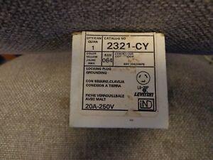 Leviton 2321-CY  Locking Plug Grounding