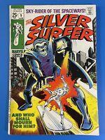 SILVER SURFER 5 (1969) - FF! Stranger! Lee! Buscema! Sharp copy see photos! Hot!