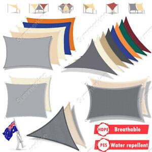 AU Extra Heavy Duty Shade Sail Shade Cloth Gray Sun Triangle Square Rectangle