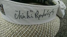 """""""Chi Chi"""" Rodriguez signed 2007 Oakmont Golf Open KATE LORD Women Straw Hat new"""