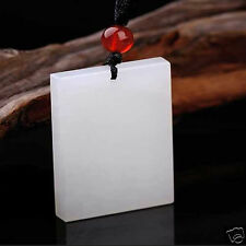 China 100% Natural Fine Hand-carved white jade pendant Tablet Pendants