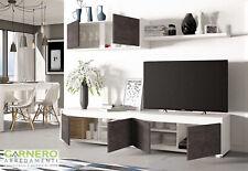 Parete attrezzata ZOE bianco opaco ossido mobile soggiorno design base tv sala