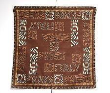 Fendi Small Scarf Pocket Square Handkerchief Handbag Tie Designer Brown VGC