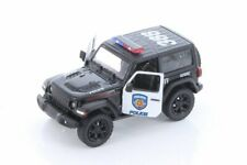 2018 JEEP WRANGLER RUBICON POLICE HARD TOP KINSMART 1/34 scale DIECAST CAR