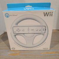 *NEW* Official Nintendo Wii Wheel  Mario Kart Game Controller White Race Wheel