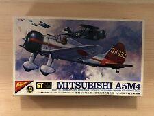 Nichimo Mitsubishi A5M4 Japanese Navy Carrier Model Airplane Kit 1/72 Scale
