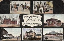 Tama IA Art Nouveau~School Our Kids Go To~Indians~Depot~Library~Main St 1910