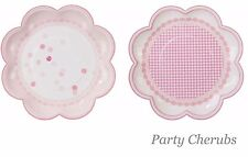 Pink Party Plates x 8 - Girls Pink Birthday Party