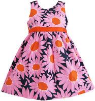Girls Dress Sunflower Party Children Clothes Size 2 3 4 5 6 7 8 9 10
