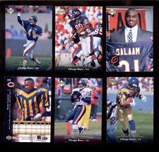 1995 UD Chicago Bears Set RASHAAN SALAAM MARK CARRIER STEVE WALSH CURTIS CONWAY
