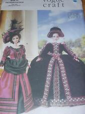 "VOGUE #9917-11½"" FASHION DOLL-HISTORICAL 1800's or QUEEN-COURT COSTUME PATTERNuc"