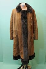 Traumhafter Wild Leder Mantel Kürschner ca 46/XL braun echt vintage Zarenmantel*