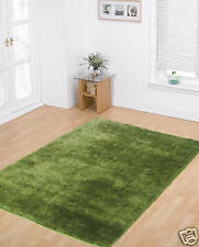 Large Thick Lime Green Soft Shaggy Sparkle Rug 160x220