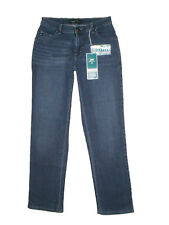 LEE Women Relaxed Fit Flexible Waistband Straight Leg Jeans Blue Size 4 X 31 New