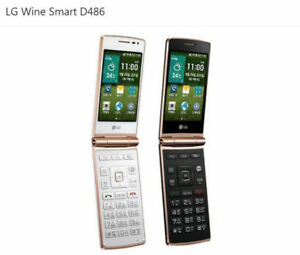 "LG Wine Smart D486 4G LTE 1GB RAM 4G ROM 3.5"" Android Wi-Fi GPS Radio Flip Phone"