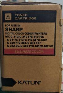 Toner Cartridge For Sharp MX C310 311 380 381 UK Fits Katun Magenta Compatible