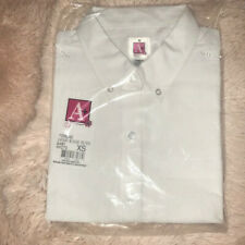 New A+ Oxford White School Short Sleeve Extra Small (XS) Blouse.