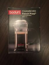 BODUM CHAMBORD SILVER FRENCH PRESS COFFEE MAKER 3 CUP 12 OZ NEW NIB